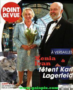 Xenia and Ivan Sayers, famous fashion historian