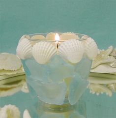 Beach Decor - Sea Glass Votive Candle Holder  $20.00