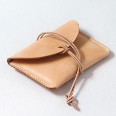 100% Hand-stitched Natural Vegetable Tanned Leather Card Case
