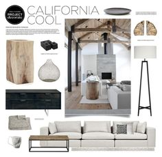 """""""California Cool"""" by bellamarie ❤ liked on Polyvore featuring interior, interiors, interior design, home, home decor, interior decorating, French Connection, Jayson Home, Blu Dot and Crate and Barrel"""