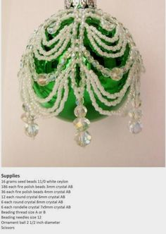 Beaded Christmas Ornaments: Jamie Cloud Eakin: 9781514266977: Amazon.com: Books 1 of 6