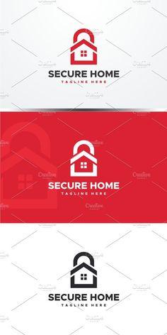 Secure Home Logo Packaging Design, Branding Design, Logo Design, Lock Logo, Protection Logo, Security Logo, Logo Shapes, Font Names, Circle Logos