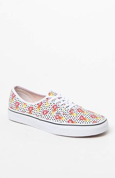 Vans Women s Authentic Kendra Dandy White and Black Canvas Sneakers Lienzo  Negro 0737bf2991e