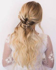 Hair and Makeup by Steph half up half down wedding hairstyle