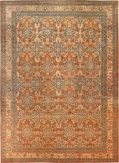 Antique Persian Tabriz Rug , Country of Origin / Rug Type: Persian Rugs, Circa Date: 1880 12 ft 6 in x 17 ft 10 in (3.81 m x 5.44 m)