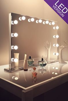 Mirror Finish Hollywood | Table Top LED | H:700mm X W:1000mm X