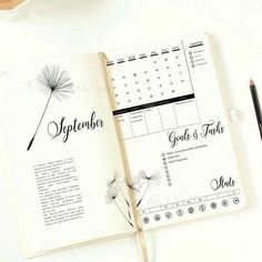 Simplified Bullet Journal Layout and design