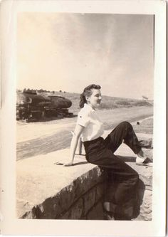 Vintage Photo of 1940s Woman in Saddle Shoes