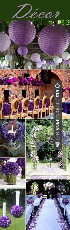 So neat - Purple Linen, Small wine glass shaped Votive & purple flowers?…
