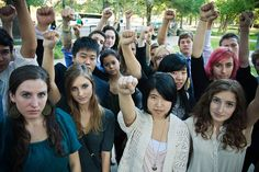 """""""Tar Sands Students"""", a group of high school students who oppose construction of the Keystone XL pipeline."""