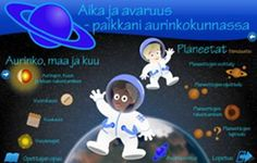 Edu.fi - Aika ja avaruus - paikkani aurinkokunnassa Science Art, Science For Kids, Science And Nature, Science And Technology, Space Activities, Science Activities, Science Experiments, Physics And Mathematics, Material Science
