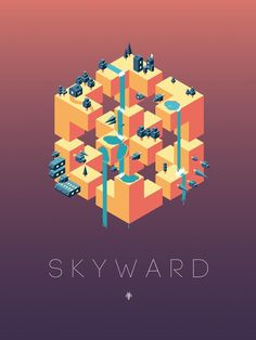 Mobile Monday Review: Skyward! Welcome to Mobile Monday Review: Skyward! It's a long way to the top in this artistic timing based arcade game. Time and tap to land the dots on the next available surface and conquer the tower. I give to you Skyward!