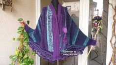 Handcrocheted Butterfly Poncho by AnnesMagicCrochet on Etsy Crochet Poncho, Hand Crochet, Cardigan Sweaters For Women, Sweater Cardigan, Butterfly, Cozy, Warm, Studio, Unique