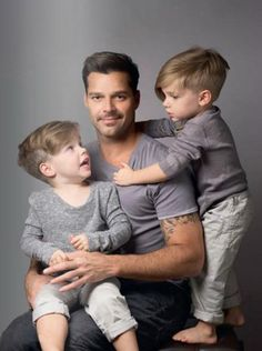Ricky Martin - There is something very sexy about a man with his kids!