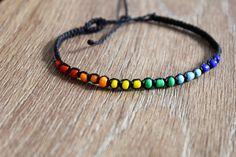 This listing is for 1 bracelet. Chose your string colour in the drop down menu. -100% Waterproof -Handmade -Colour that won't fade -Wear and