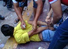Homem é imobilizado por populares após vandalismo em Tabira | S1 Notícias