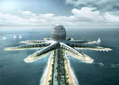 OCTOPUS HOTEL, DUBAI #dubai #beach #design #hotel #architecture #concept #future
