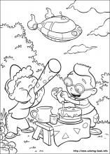Little Einsteins Coloring Pages On Book