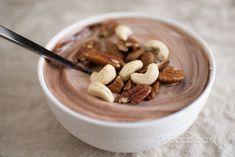Chocolade kwark met noten