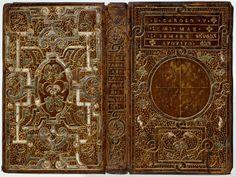 Boekband. Vervaardigd door Christoffel Plantijn voor keizer Karel V. Antwerpen, 1550. Antverpiae, in aedib. Ioan. Steelsii, 1550. 8º. Herkomst: collectie A.W.M. Mensing, 1909. 1708 D 41