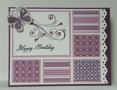 scraps/inchie card with border found on Cute Greeting Cards blogspot.