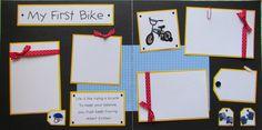 MY FIRST BIKE 12x12 Premade Scrapbook Pages - BoY