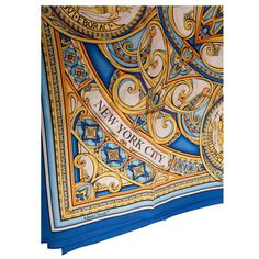 Official City of New York Silk Scarf Designed by Marisol Deluna