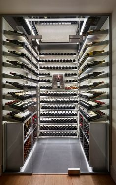 Surge in sales of luxury wine cellars as homeowners avoid st.- Surge in sales of luxury wine cellars as homeowners avoid stamp duty One of Spiral's walk-in wine cellars, which cost an average of - Cave A Vin Design, Spiral Wine Cellar, Bar Deco, Wine Cellar Basement, Home Wine Cellars, Wine Cellar Design, Wine House, Wine Display, Wine Wall