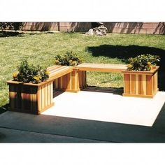 U-Bild Planter Bench Plan - Stop and smell the roses with this combination planter and bench!