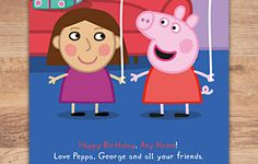 Your daughter shares her birthday with Peppa Pig and friends in this new personalised edition of the Peppa Pig book!  #childrensbooks #childrensgifts #books #educationalgifts #learningtoread #personalisedbooks #peppapig