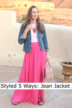 jean jacket outfit ideas - DressesAndDenim.com
