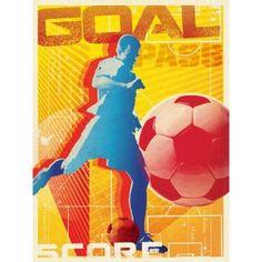 Oopsy Daisy - Goal! Canvas Wall Art 18x24, Juice Box