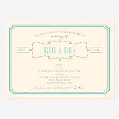 Blue skies wedding invitation - Love vs Design