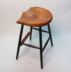 "GARNY - Horseshoe Cherry Stool 25"" -  for kitchen counter on Etsy, $695.00"