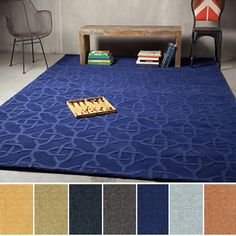 Hand-loomed Warren Casual Tone-on-Tone Geometric Wool Area Rug (8' x 11') | Overstock™ Shopping - Great Deals on 7x9 - 10x14 Rugs