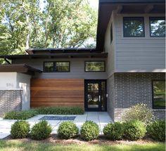 Magnificent Wood Siding vogue Portland Midcentury Entry