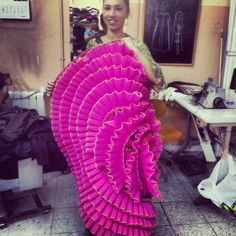Bajo el mar. Bata de cola. Diseño Yaiza Pinillos