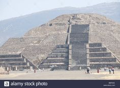 Tourists milling around the base of The Pyramid of the Moon at ...