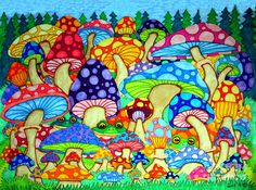 Google Image Result for http://images.fineartamerica.com/images-medium-large/frogs-and-magic-mushrooms-nick-gustafson.jpg