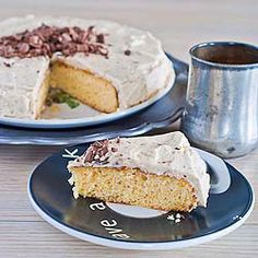 Classic Vanilla Cake - grain, dairy and refined sugar-free. 4 large eggs, separated 1 tsp cream of tartar 1/4 cup coconut oil 3 tbsp honey 1/4 cup coconut flour, sifted 2 tsp vanilla extract 1/4 tsp baking soda 1/8 tsp salt For the frosting: Coconut cream 1-2 tbsp date puree 1/2 tsp vanilla