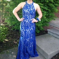 Beautiful Blue Boutique Prom Dress!