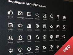 Rectangular Icons