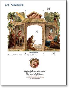 Pavilion Nativity Combo - PaperModelKiosk.com
