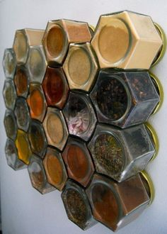 Magnetic Spice Jars for your Fridge