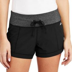 Avia Women's Active Stretch Woven Short - Walmart.com black soot charcoal