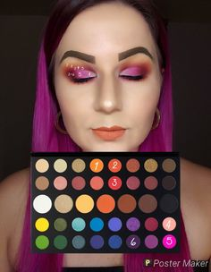 Look by number using the James Charles palette.You can find Makeup looks with james charles palette and more on our website.Look by number using the James Charles palette. Eye Makeup Steps, Makeup Eye Looks, Cute Makeup, Make Up Palette, Creative Eye Makeup, Colorful Eye Makeup, Makeup Morphe, Skin Makeup, Paleta Morphe