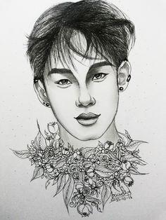 Yang #inkart #inktober2016 #handsome #guy #ink #art #drawing #sketch #fusion #illustration #yang