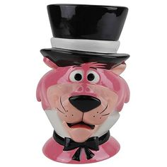 Westland Giftware Snagglepuss Cookie Jar: These fun, colorful cookie jars feature characters from Huckleberry Hound. Westland Giftware is known for quality and design. Cat Cookie Jar, Ceramic Cookie Jar, Cookie Monster, Cookie Time, Cartoon Cookie, Antique Cookie Jars, Biscuits, Westland Giftware, Vintage Cookies