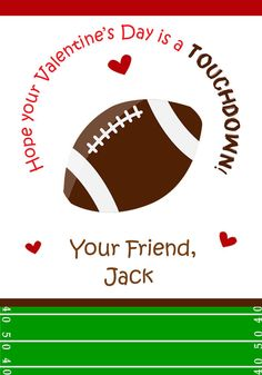 valentine cards football valentine cards by thebutterflypress