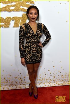 """Melanie Brown Photos - Mel B attends the """"America's Got Talent"""" Season 13 Live Show at Dolby Theatre on August 2018 in Hollywood, California. - 'America's Got Talent' Season 13 Live Show Red Carpet Rose Byrne, Jenna Dewan, Kelly Ripa, Zendaya Coleman, America's Got Talent, Sheer Dress, Bodycon Dress, Mel Brown, Mini Robes"""